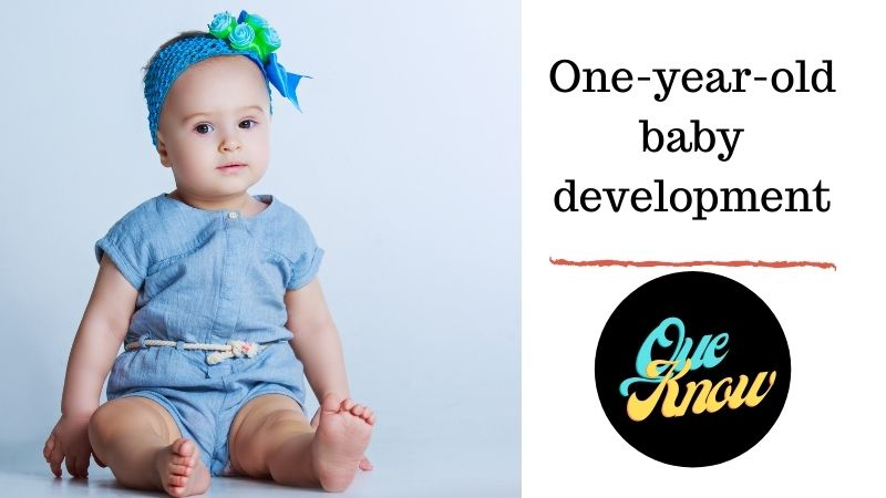 One-year-old baby development